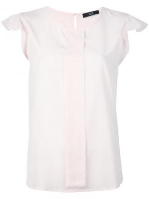 Блузка со складками на рукавах Steffen Schraut. Цвет: розовый и фиолетовый