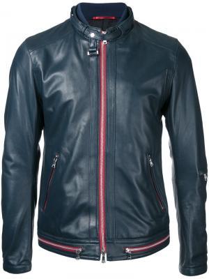 Куртка на молнии Loveless. Цвет: синий
