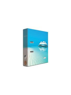 Регистратор ламинированный 8см Pierre Cardin Riviera Paradis. Цвет: голубой