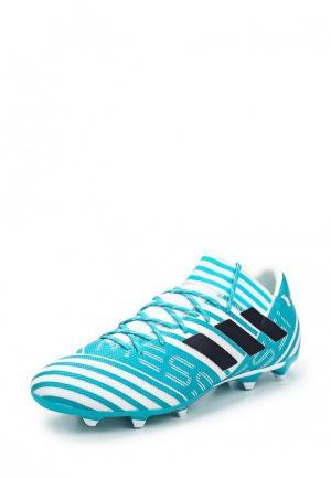 Бутсы adidas Performance. Цвет: бирюзовый