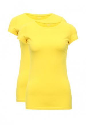 Комплект футболок 2 шт. oodji. Цвет: желтый