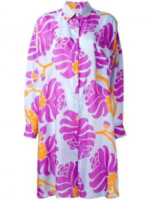 Платье-рубашка с абстрактным принтом Jucca. Цвет: многоцветный