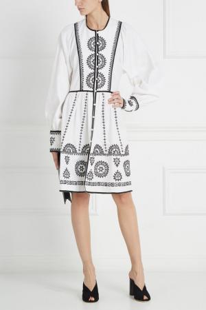 Хлопковое платье Talitha. Цвет: белый, черный