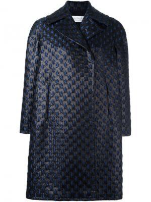 Свободное пальто Gianluca Capannolo. Цвет: синий