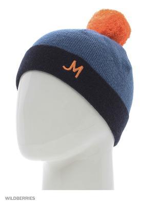 Шапка Jeunmar. Цвет: оранжевый, синий, черный