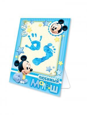 Набор для создания детского отпечатка Disney. Цвет: черный, кремовый, лазурный