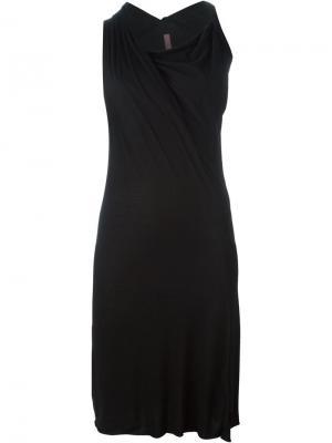 Драпированное платье без рукавов Rick Owens Lilies. Цвет: чёрный