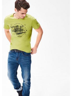Футболка S.OLIVER. Цвет: серо-зеленый