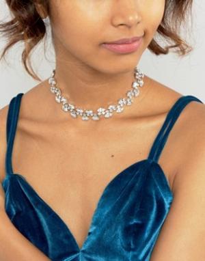 Krystal Ожерелье-чокер с кристаллами Swarovski от Marquees. Цвет: прозрачный
