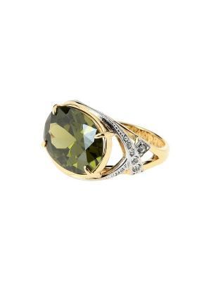 Кольцо Jenavi. Цвет: зеленый