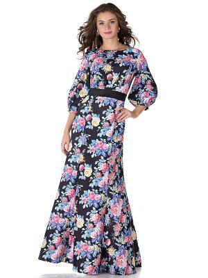 Платье OLIVEGREY. Цвет: черный, синий