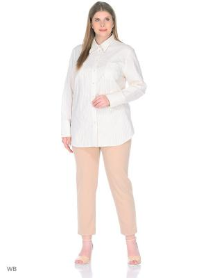 Блузка BERKLINE. Цвет: бежевый