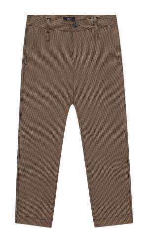 Брюки прямого кроя с накладными карманами No. 21. Цвет: коричневый