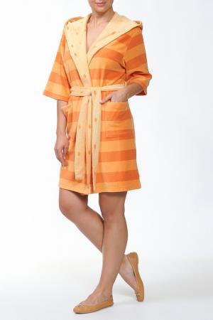 Халат Del Fiore. Цвет: оранжевый