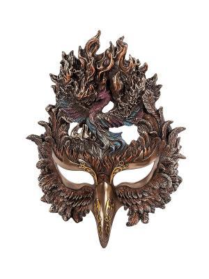 Маска в стиле Стимпанк Феникс Veronese. Цвет: бронзовый