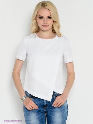 Блузка Kira Plastinina. Цвет: белый