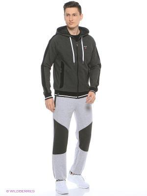 Спортивные брюки FORLIFE. Цвет: светло-серый, темно-серый