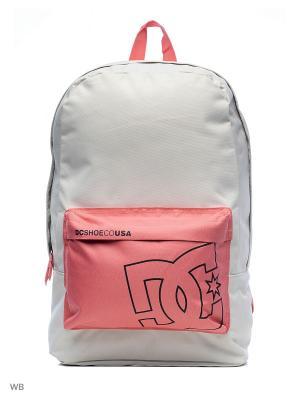 Рюкзак DC Shoes. Цвет: серый, розовый