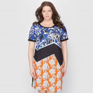 Облегающее платье с цветочным рисунком TAILLISSIME. Цвет: рисунок разноцветный