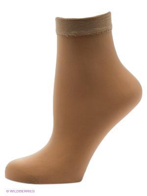 Носки, 2 пары OMERO. Цвет: бежевый