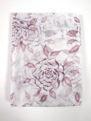 Штора Arbusto di Rose Lilla 200х270 см Ivett Classic. Цвет: сиреневый, белый