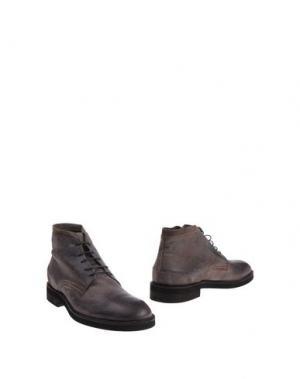 Полусапоги и высокие ботинки BORGO MEDICEO. Цвет: свинцово-серый