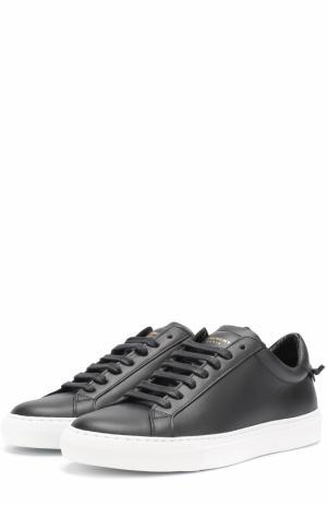 Кожаные кеды на шнуровке Givenchy. Цвет: черный