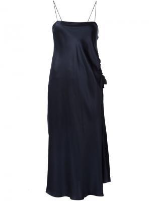 Платье на бретельках Ellery. Цвет: синий