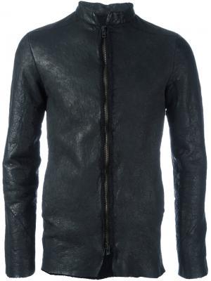 Фактурная куртка на молнии Salvatore Santoro. Цвет: чёрный