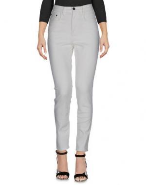 Джинсовые брюки PROENZA SCHOULER. Цвет: слоновая кость
