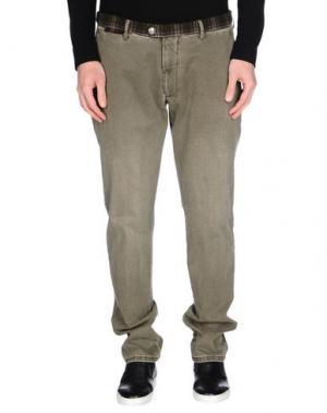 Повседневные брюки BERWICH. Цвет: зеленый-милитари