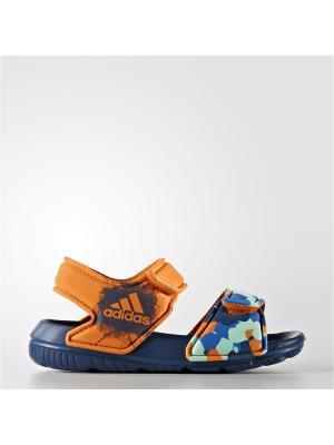 Сандалии Adidas. Цвет: оранжевый, бирюзовый, синий