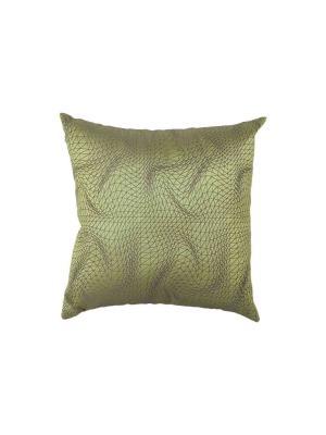 Подушка FLEXUOUS Olive Green  45х45 см T&I. Цвет: зеленый
