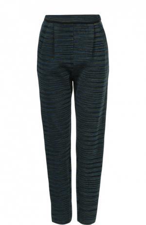 Укороченные брюки прямого кроя с защипами M Missoni. Цвет: бирюзовый