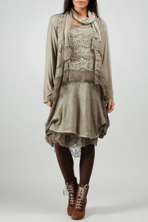 Платье La Fille de Couturier. Цвет: бежевый