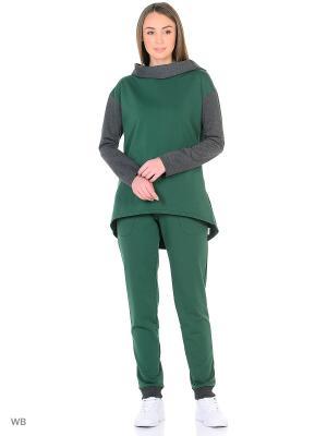 Спортивный костюм Габриэлла Runika. Цвет: зеленый, антрацитовый