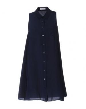 Короткое платье EQUIPMENT FEMME. Цвет: темно-синий
