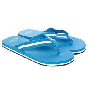 Шлепанцы  Flip Flops Turquoise/White Urban Classics. Цвет: голубой