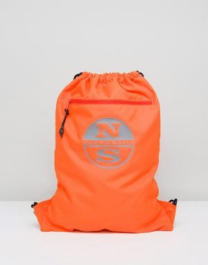 North Sails Оранжевый спортивный рюкзак. Цвет: оранжевый