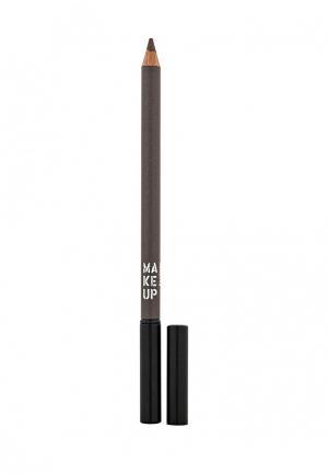 Карандаш для бровей Make Up Factory. Цвет: коричневый