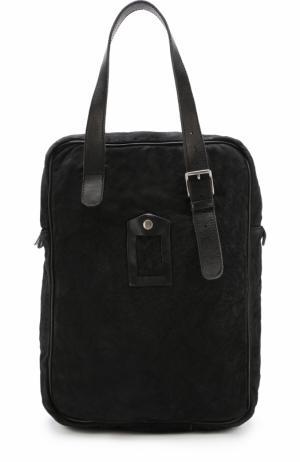 Кожаная сумка-шоппер Numero 10. Цвет: черный