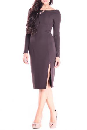 Платье REBECCA TATTI. Цвет: шоколадный
