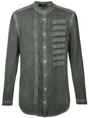 Рубашка с вышивкой Tom Rebl. Цвет: серый