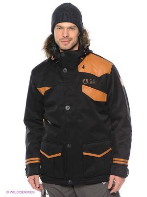 Куртка Picture Organic. Цвет: черный, оранжевый