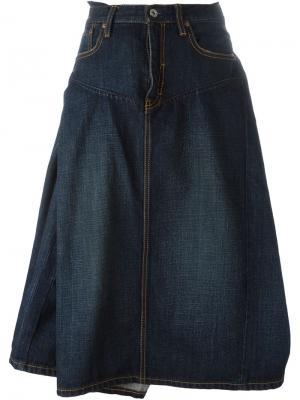 Пышная джинсовая юбка Junya Watanabe Comme Des Garçons. Цвет: синий