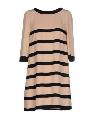 Короткое платье EDWARD ACHOUR. Цвет: абрикосовый
