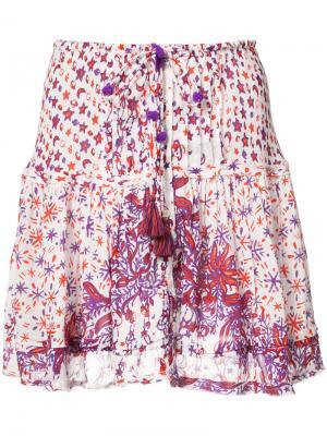 Мини-юбка с принтом Kila Poupette St Barth. Цвет: белый