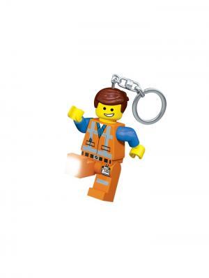 Брелок-фонарик для ключей LEGO MOVIE - Emmet. Цвет: голубой, оранжевый, желтый