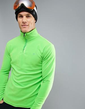 Protest Флисовый лонгслив под лыжную куртку Perfecty 1/4. Цвет: зеленый