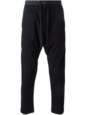 Спортивные брюки кроя слим Jan Van Essche. Цвет: чёрный